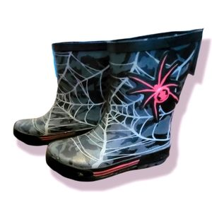 Kids Size 11 Rubber Boots Spiderman